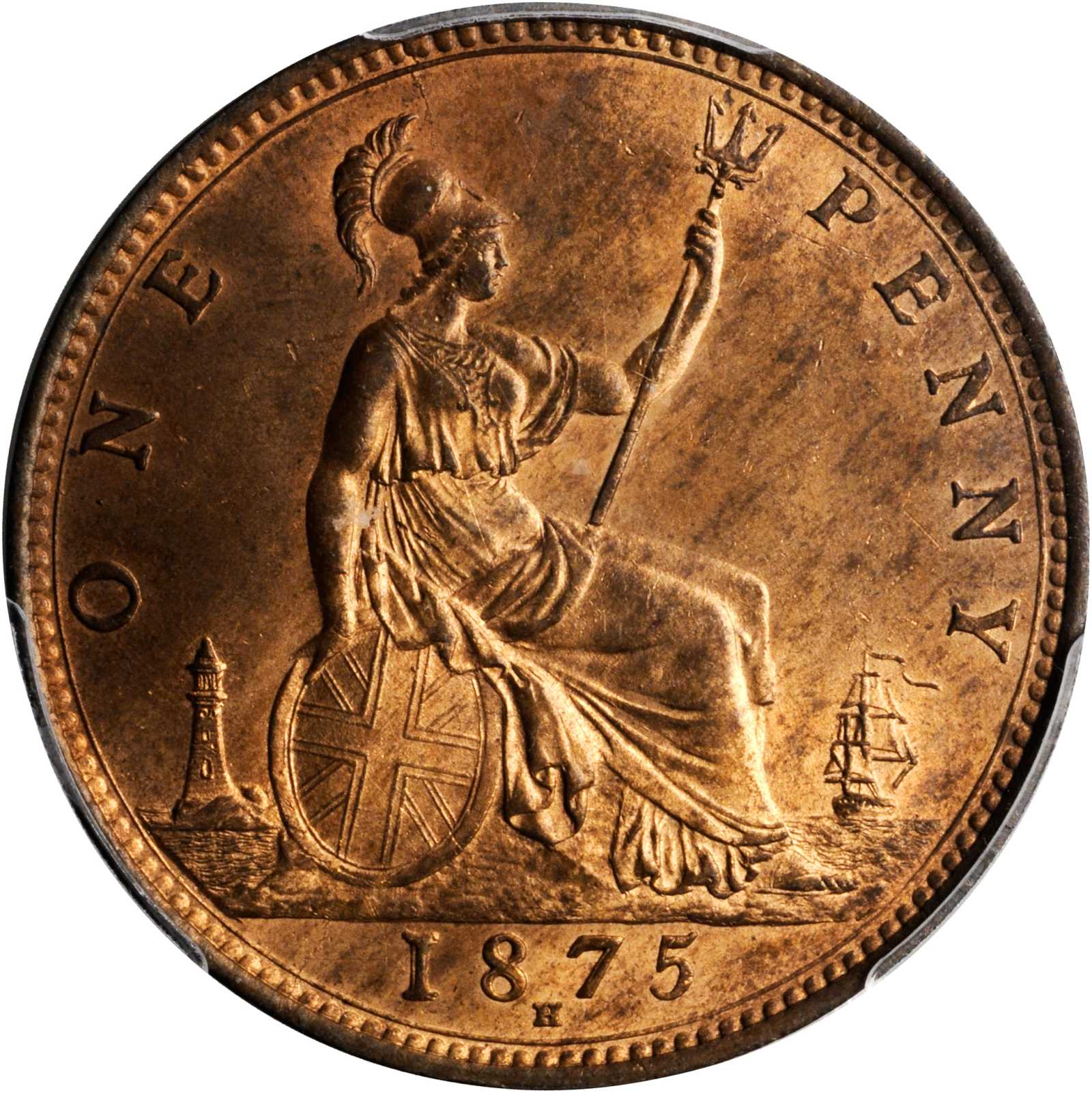 Penny (Britannia, third design): Photo Great Britain 1875-H penny