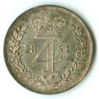 Fourpence 1851 (Maundy): Photo Great Britain 1851 4 pence