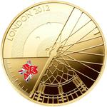 United Kingdom / Five Pounds 2012 Paralympic Games / Gold Proof FDC - reverse photo