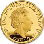 United Kingdom / Gold Ounce 2017 Lion of England - obverse photo