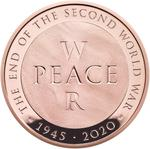 United Kingdom / Five Pounds 2020 End of World War Two / Gold Proof FDC - reverse photo