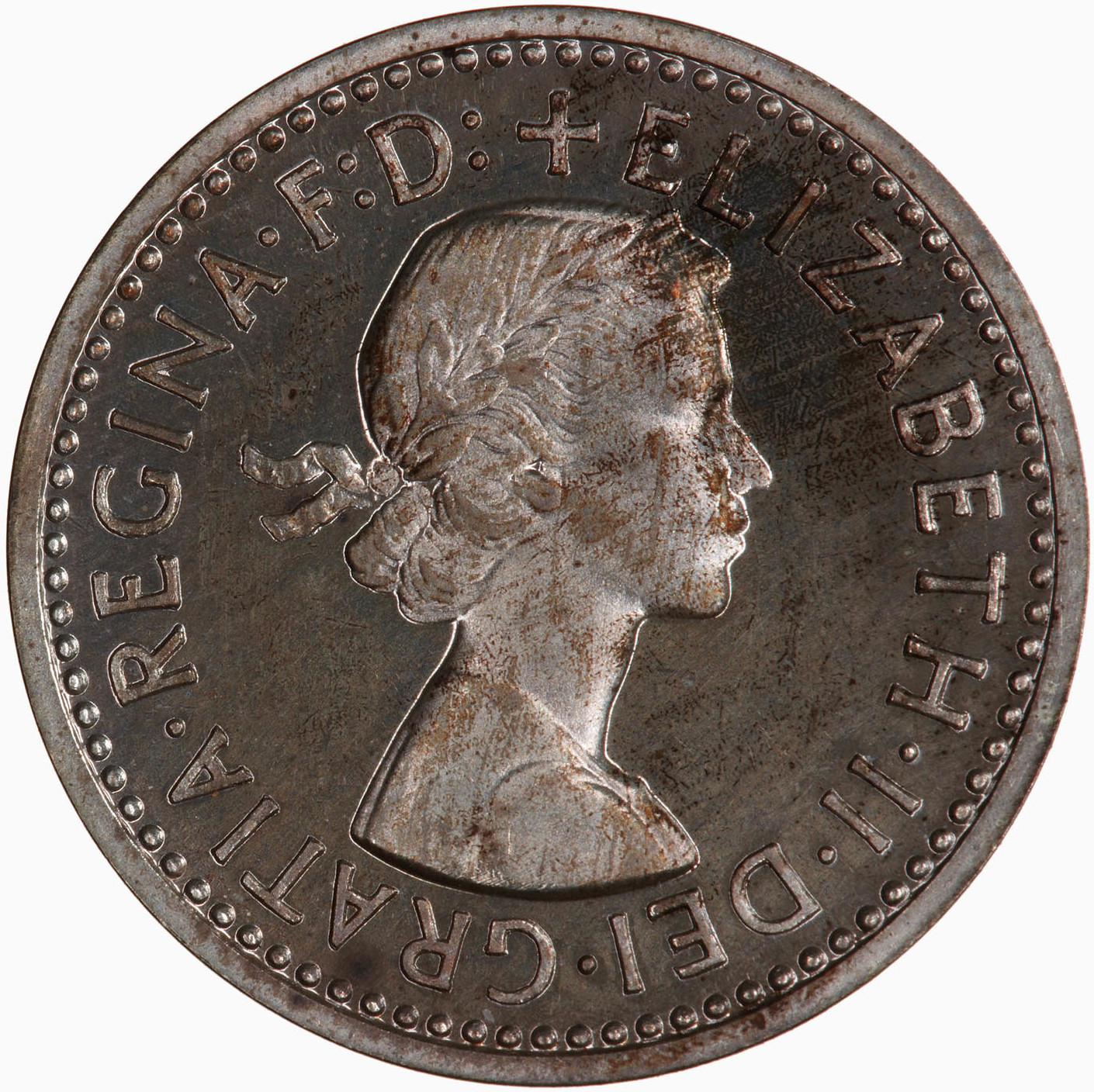 Threepence 1957 (Maundy): Photo Coin - Threepence (Maundy), Elizabeth II, Great Britain, 1957