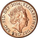 United Kingdom / One Penny 2016 - obverse photo