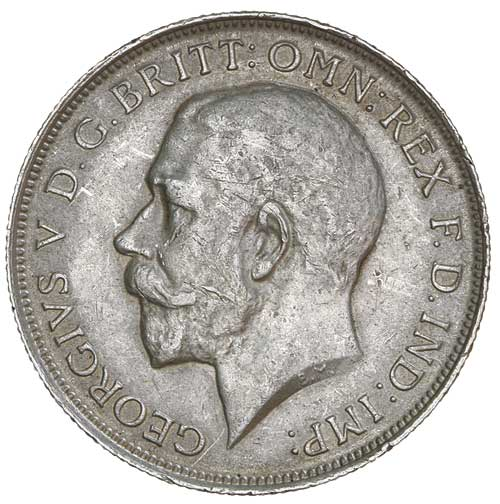 Florin 1919: Photo GEORGE V, first coinage, florin 1919