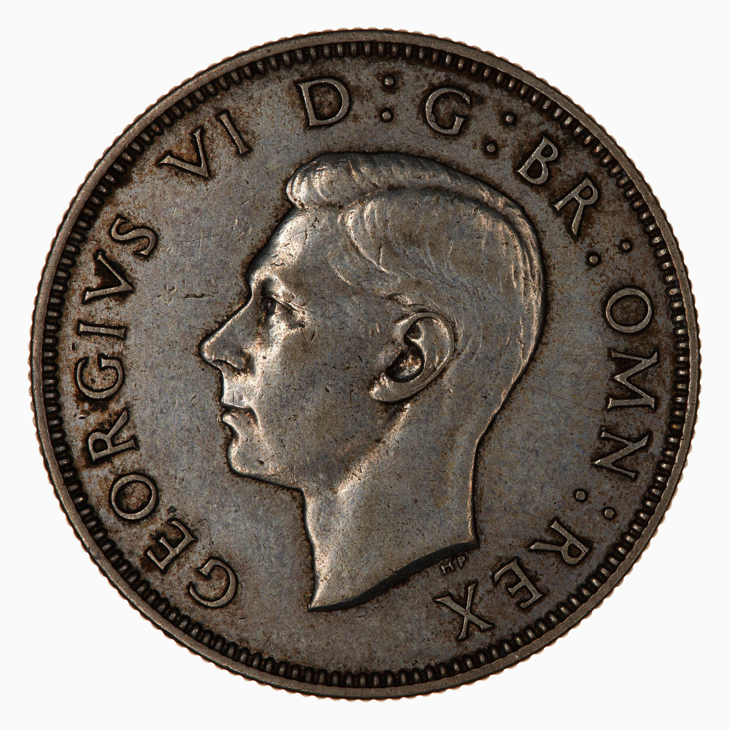Florin George VI (Silver): Photo Coin - Florin (2 Shillings), George VI, Great Britain, 1941