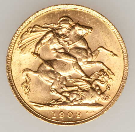 Sovereign 1909: Photo Great Britain 1909 sovereign