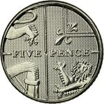 United Kingdom / Five Pence 2016 - reverse photo