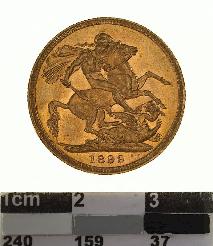 Sovereign 1899: Photo Coin - Sovereign, Victoria, Australia, 1899