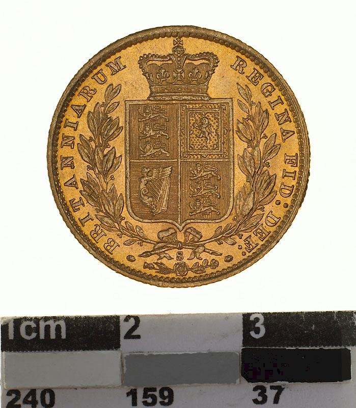 Sovereign 1879 Shield: Photo Coin - Sovereign, New South Wales, Australia, 1879
