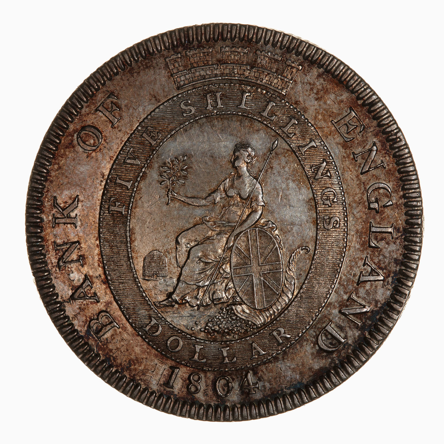 Five Shillings 1804: Photo Coin - Emergency Bank of England Dollar, George III, Great Britain, 1804-1811