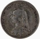 Sixpence 1890: Photo Coin - Sixpence, Queen Victoria, Great Britain, 1890