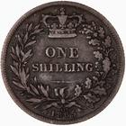 Shilling 1865: Photo Coin - Shilling, Queen Victoria Great Britain, 1865