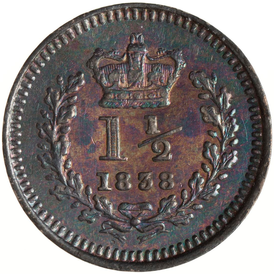 Three Halfpence: Photo Coin - 3 Halfpence, Jamaica, 1838