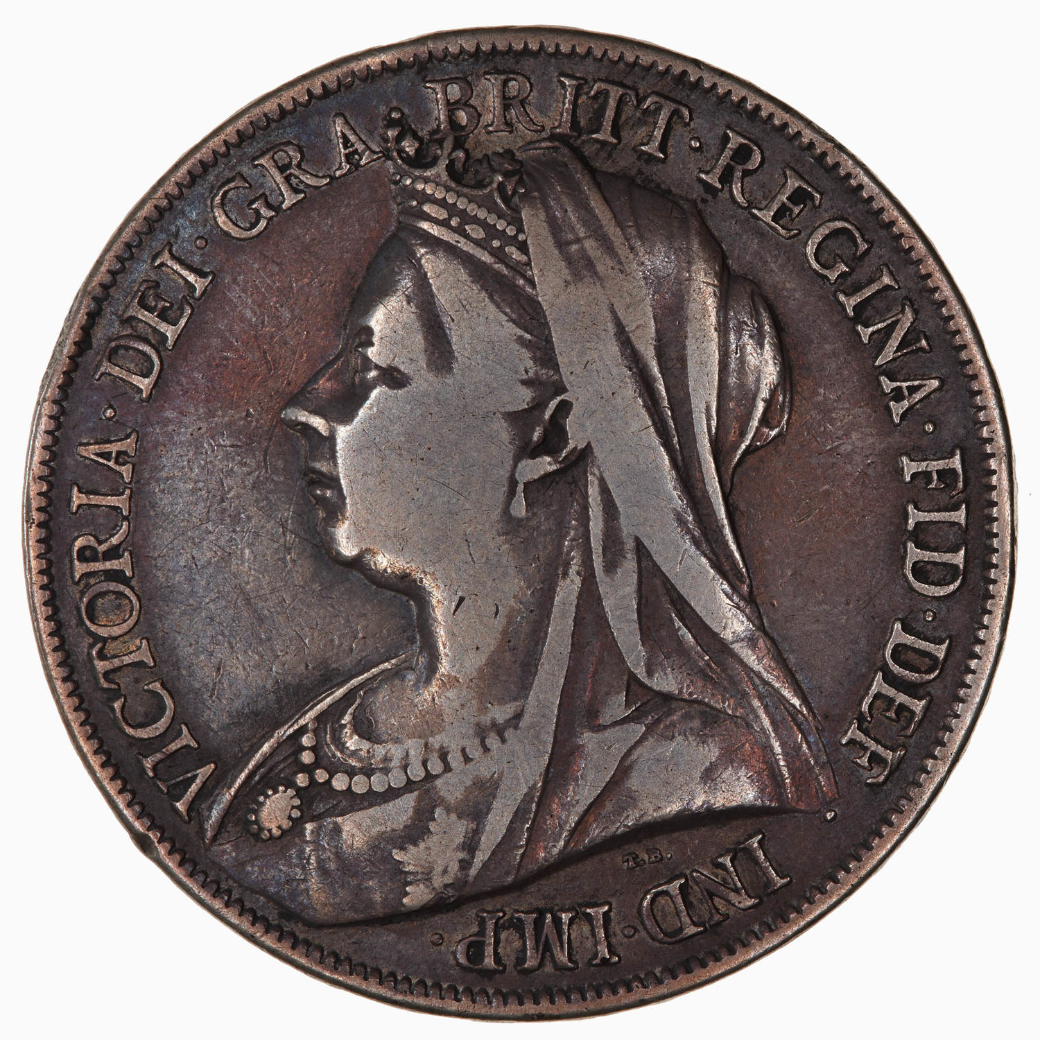 Crown 1899: Photo Coin - Crown, Queen Victoria, Great Britain, 1899