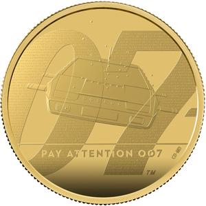 United Kingdom / Gold Two Ounces 2020 James Bond, Pay Attention - reverse photo