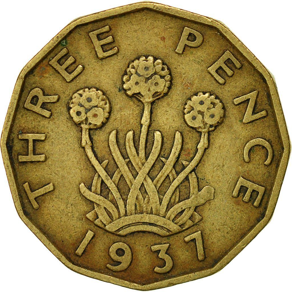 Threepence 1937 (Brass): Photo Coin, Great Britain, George VI, 3 Pence, 1937