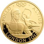 United Kingdom / Gold Quarter Ounce 2011 Apollo - reverse photo