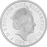 United Kingdom / Five Pounds 2015 Battle of Waterloo (Fifth Portrait) / Silver Proof FDC - obverse photo