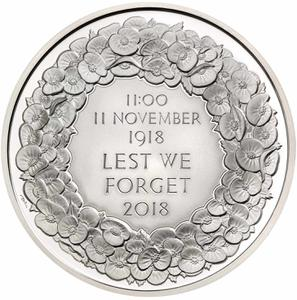 United Kingdom / Five Pounds 2018 Remembrance Day - reverse photo