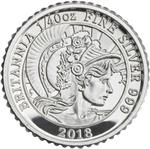 United Kingdom / Silver Fortieth-Ounce 2018 Britannia - reverse photo