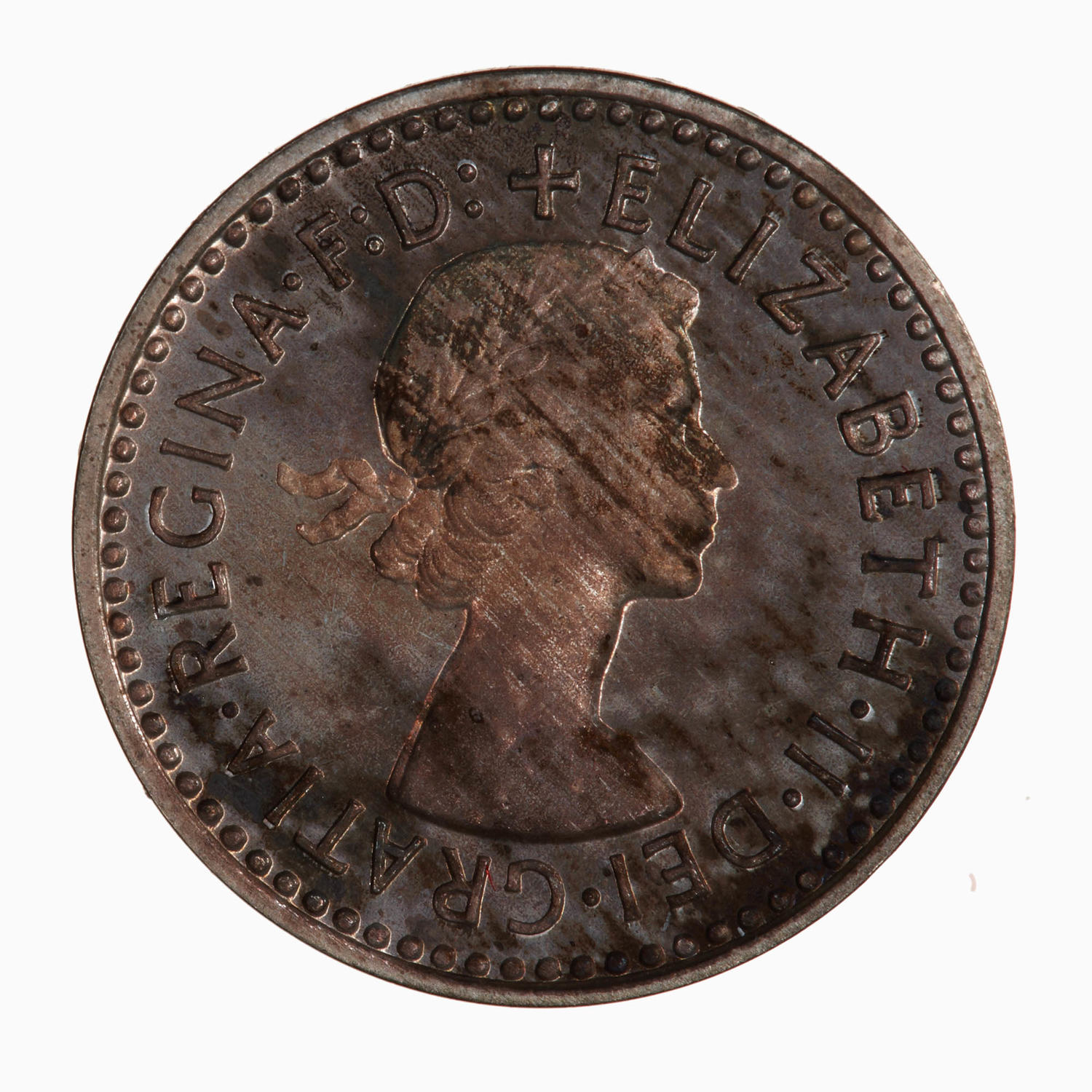 Maundy Twopence (Pre-decimal): Photo Coin - Twopence (Maundy), Elizabeth II, Great Britain, 1957