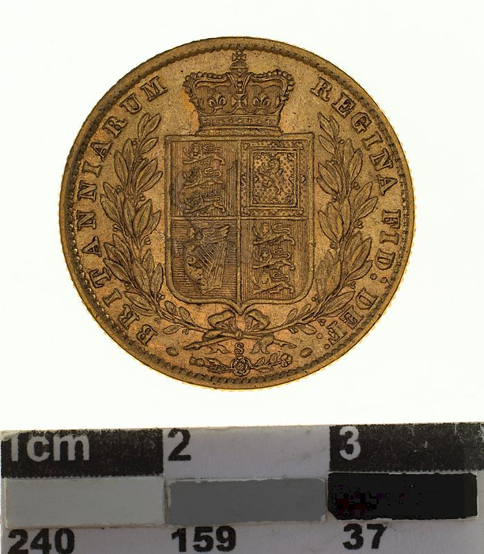 Sovereign 1871 Shield: Photo Coin - Sovereign, New South Wales, Australia, 1871