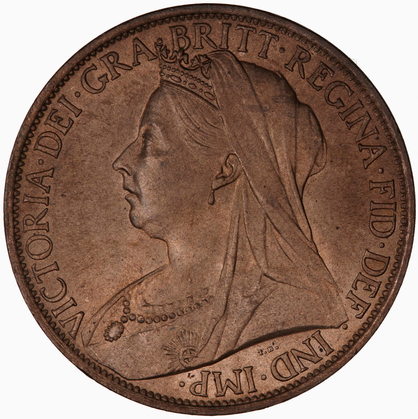Penny (Pre-decimal): Photo Coin - Penny, Queen Victoria, Great Britain, 1898