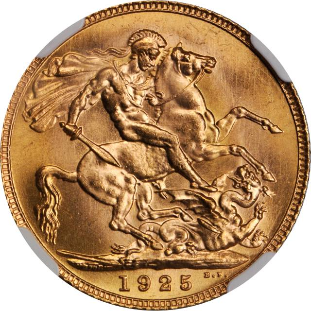 Sovereign 1925: Photo Great Britain 1925 sovereign