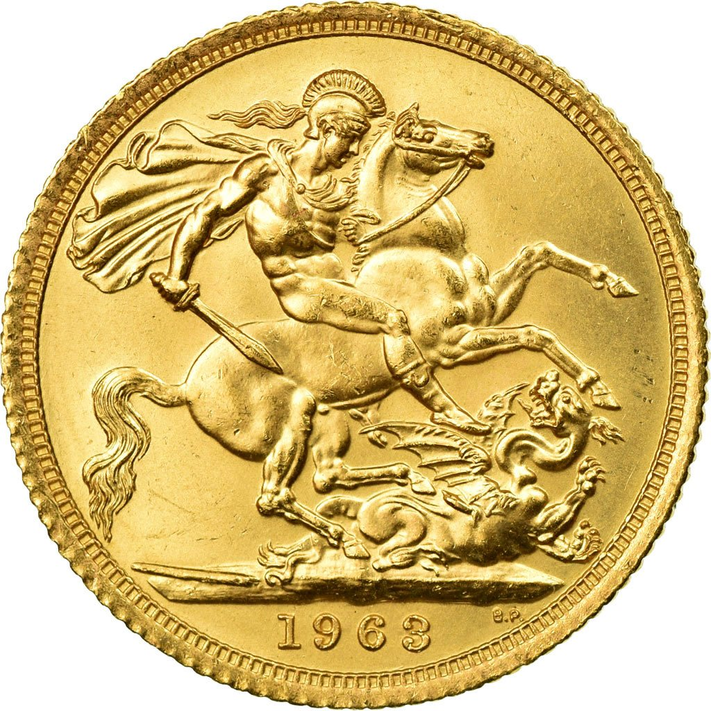 Sovereign 1963: Photo Coin, Great Britain, Sovereign, 1963