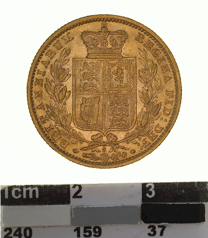 Sovereign 1884 Shield: Photo Coin - Sovereign, New South Wales, Australia, 1884