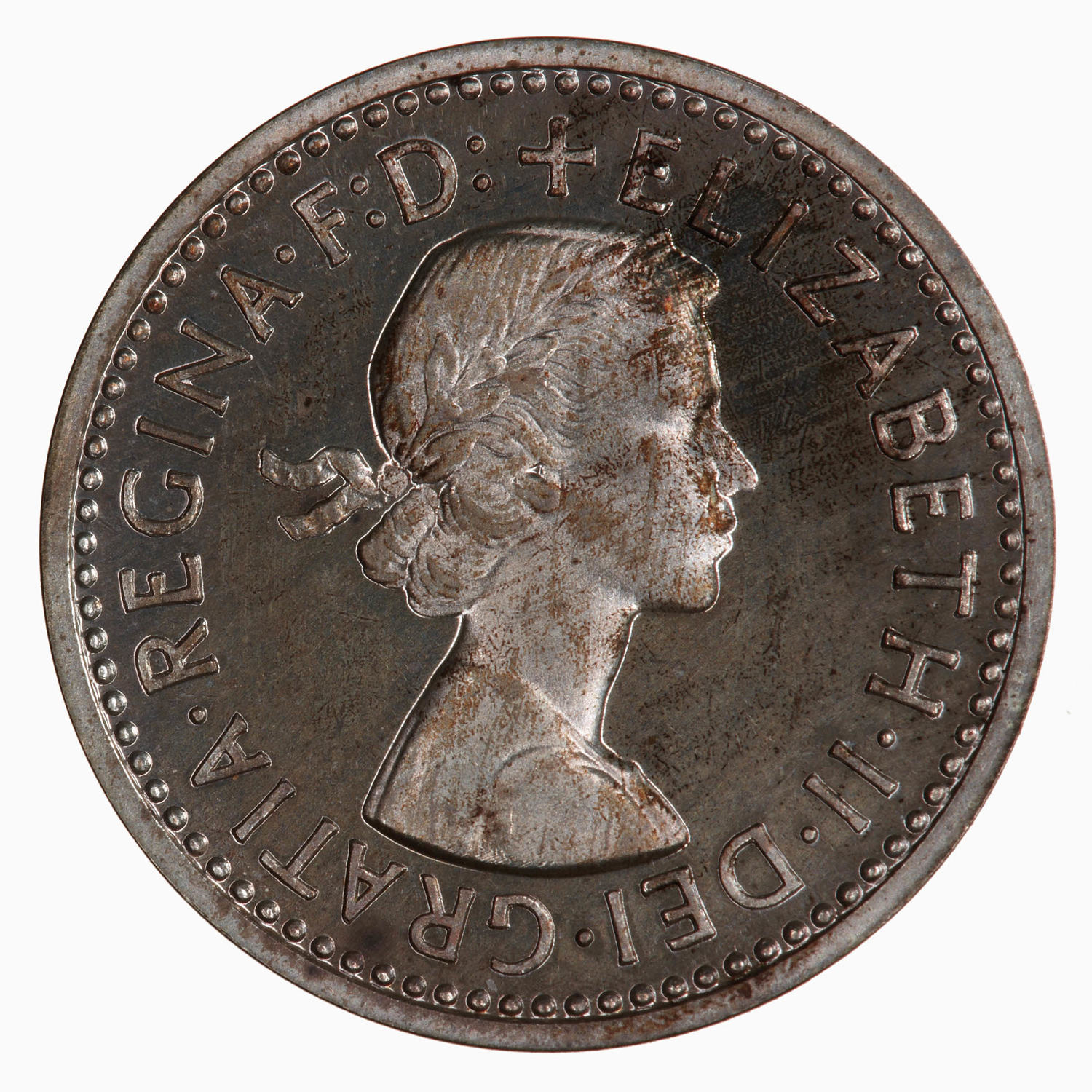 Maundy Threepence (Pre-decimal): Photo Coin - Threepence (Maundy), Elizabeth II, Great Britain, 1957