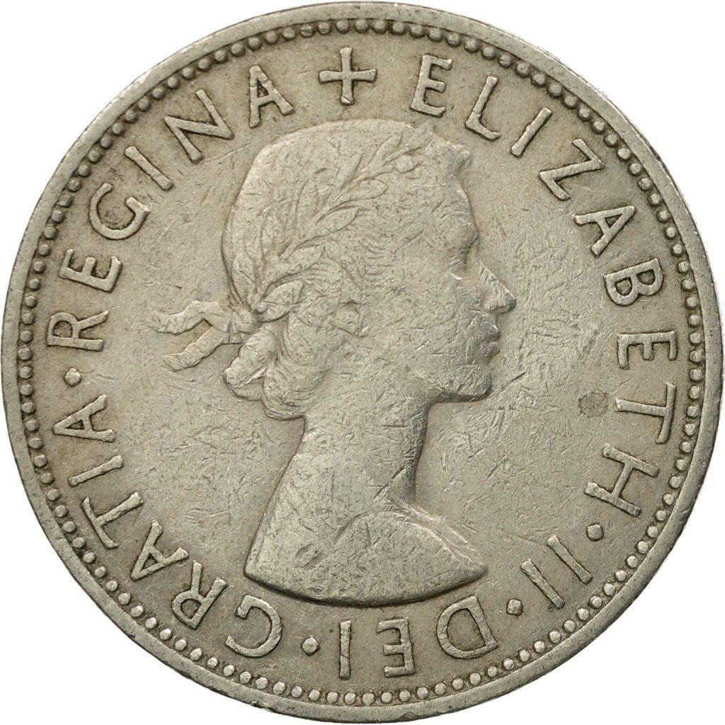 Two Shillings (Florin) 1960: Photo Coin, Great Britain, Elizabeth II, Florin, Two Shillings, 1960