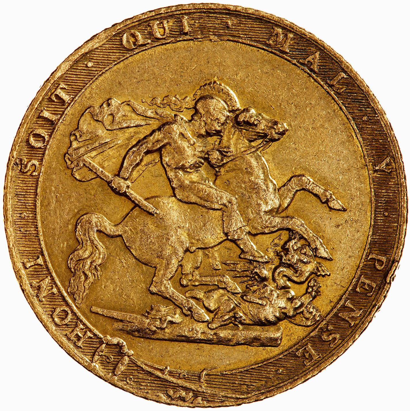 Sovereign 1820: Photo Coin - Sovereign, George III, Great Britain, 1820