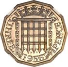 Threepence 1956 (Brass): Photo Great Britain 1956 3 pence