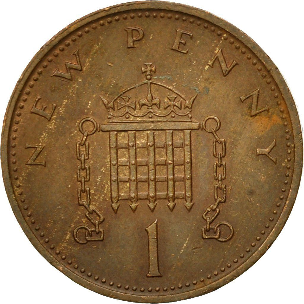 One Penny 1977: Photo Coin, Great Britain, Elizabeth II, New Penny, 1977