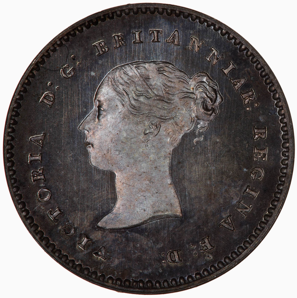 Maundy Twopence (Pre-decimal): Photo Coin - Twopence (Maundy), Queen Victoria, Great Britain, 1877