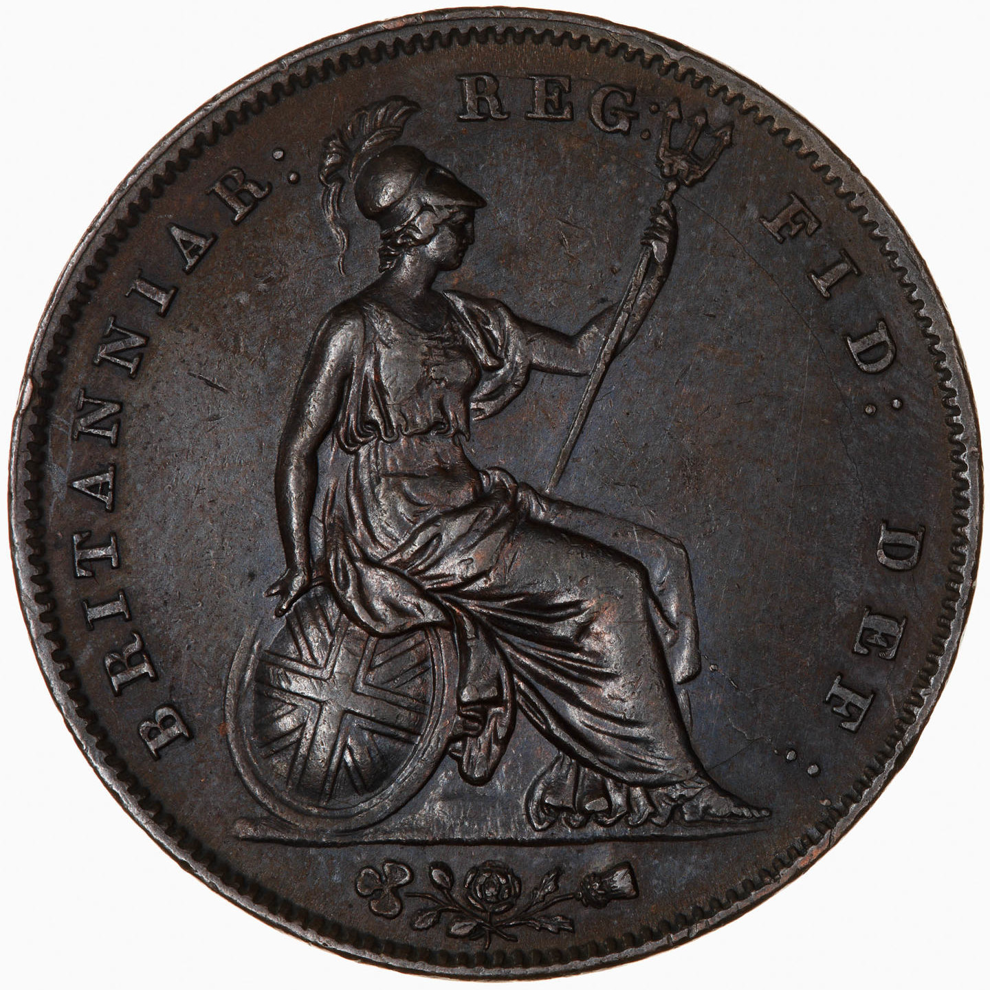 Penny 1844: Photo Coin - Penny, Queen Victoria, Great Britain, 1844