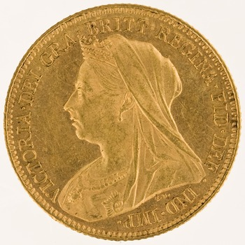 Half Sovereign 1901: Photo Gold 1/2 sovereign, London (England)