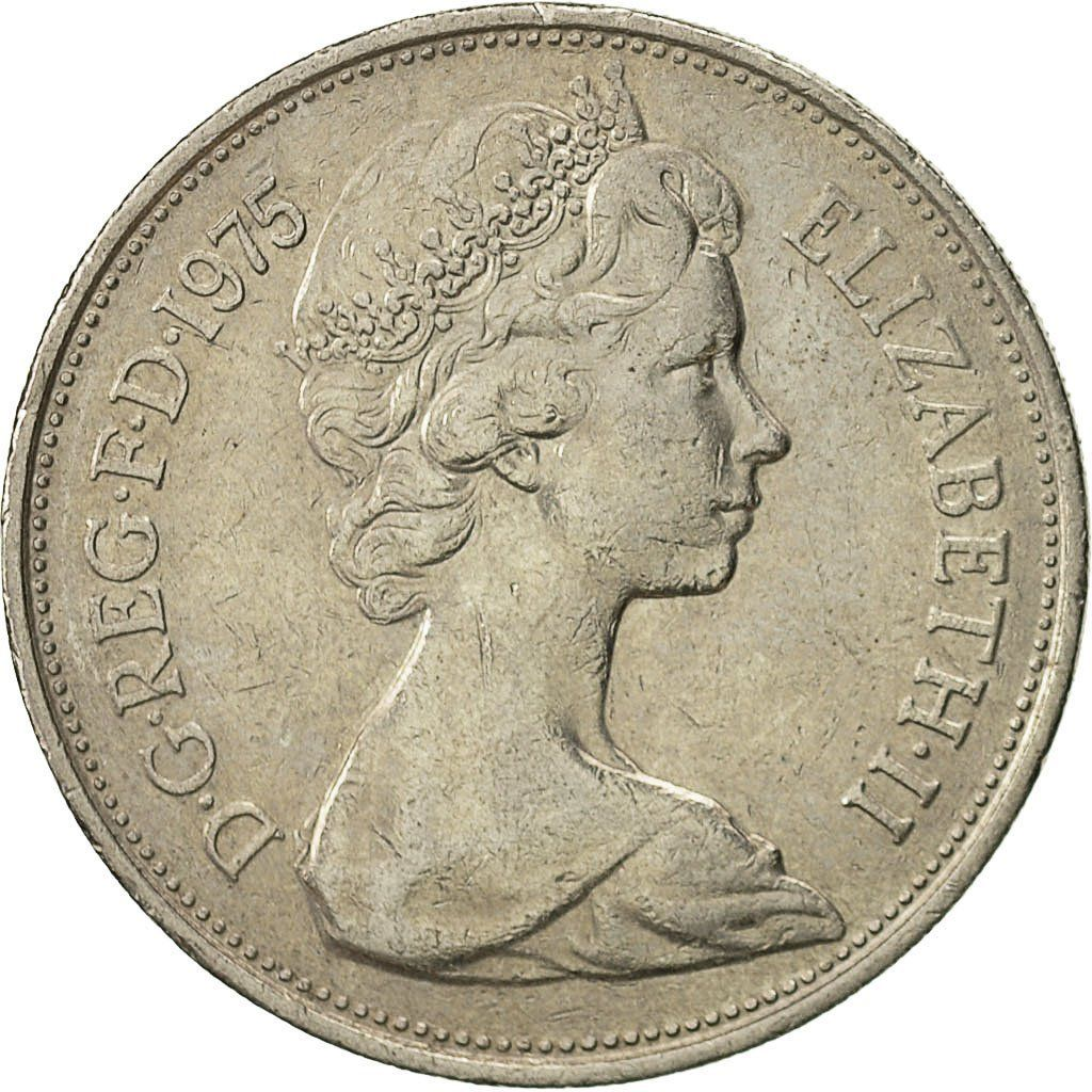 Ten Pence 1975: Photo Great Britain, Elizabeth II, 10 New Pence, 1975