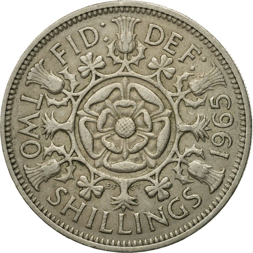 Two Shillings (Florin) 1965: Photo Coin, Great Britain, Elizabeth II, Florin, Two Shillings, 1965