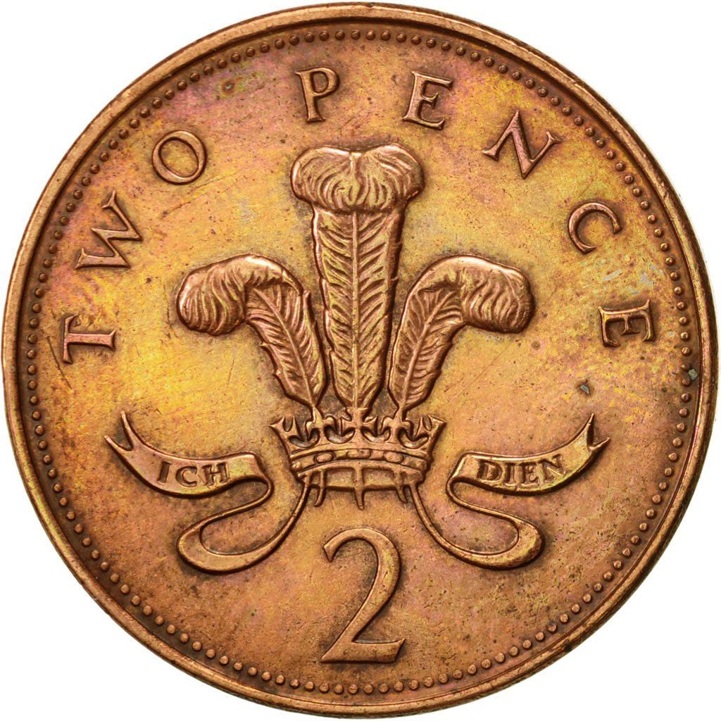 Two Pence 1996: Photo Great Britain, Elizabeth II, 2 Pence, 1996