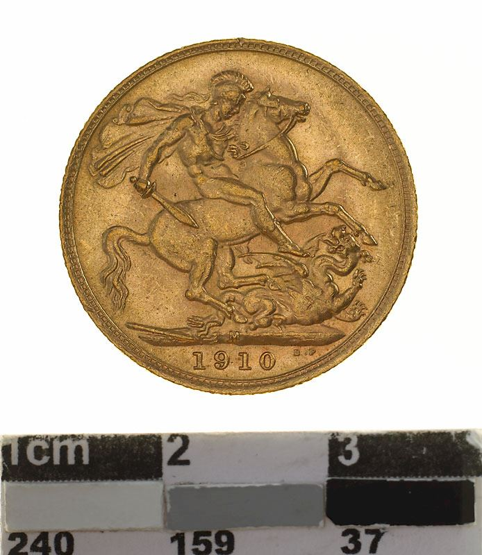 Sovereign 1910: Photo Coin - Sovereign, Victoria, Australia, 1910