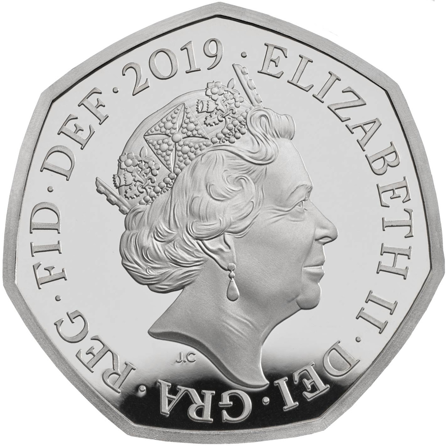 Fifty Pence 2019 Sherlock Holmes: Photo Sherlock Holmes 2019 UK 50p Proof Coin