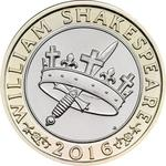 United Kingdom / Two Pounds 2016 Shakespeare - Histories - reverse photo