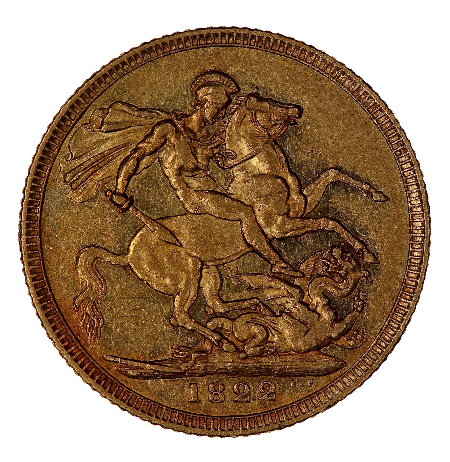 Sovereign 1822: Photo Coin - Sovereign, George IV, Great Britain, 1822