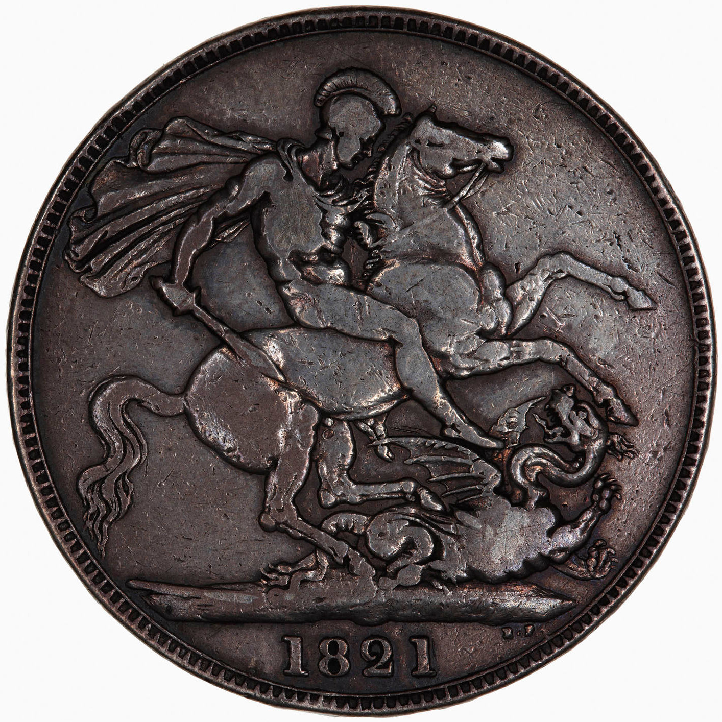 Crown 1821: Photo Coin - Crown, George IV, Great Britain, 1821