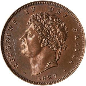 United Kingdom / Third Farthing 1827 - obverse photo