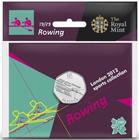 United Kingdom / Fifty Pence 2011 - London 2012 - Rowing / Specimen in card - reverse photo