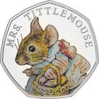 United Kingdom / Fifty Pence 2018 Mrs. Tittlemouse / Silver Proof - reverse photo
