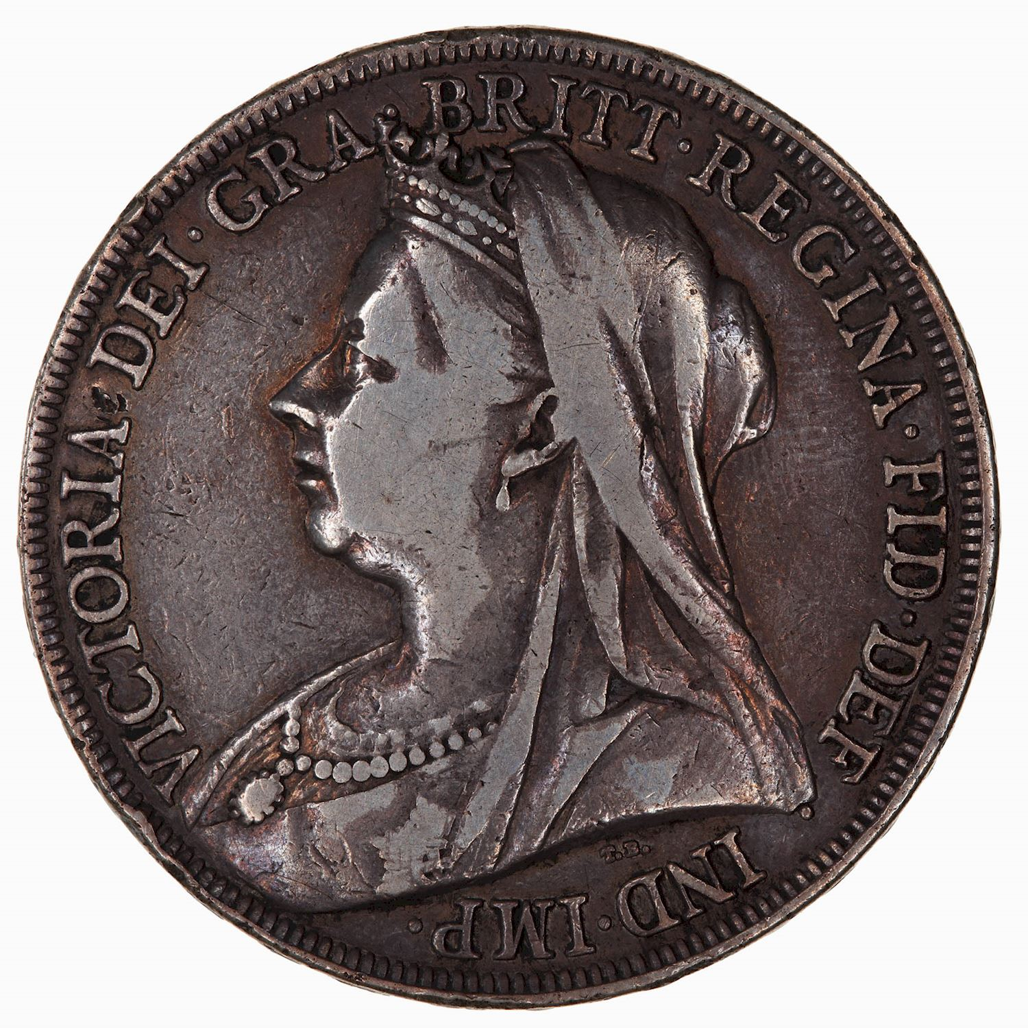 Crown 1898: Photo Coin - Crown, Queen Victoria, Great Britain, 1898